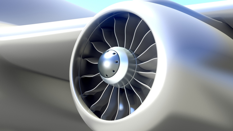 Stylized Boeing Jet Engine