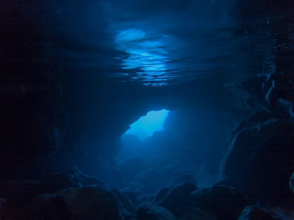 Exploring an Underwater Cave