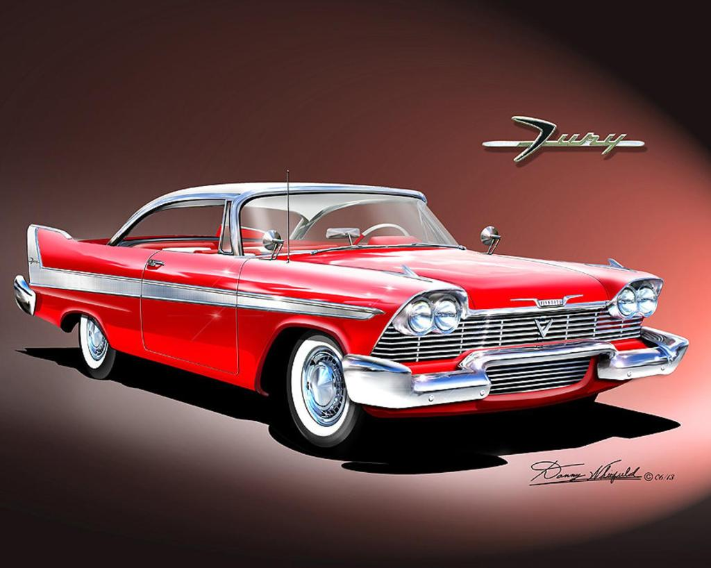 1958 Plymouth Fury from the Movie Christine. James Cameron, Stephen King.