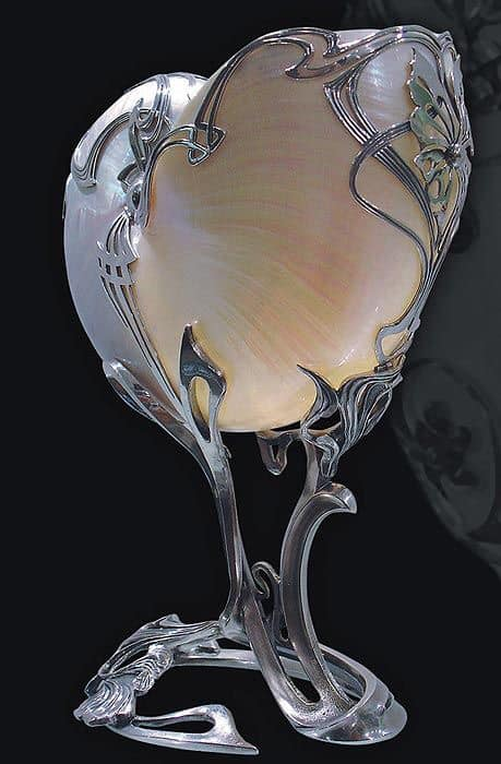 Art Deco Silver Vase 19th Century