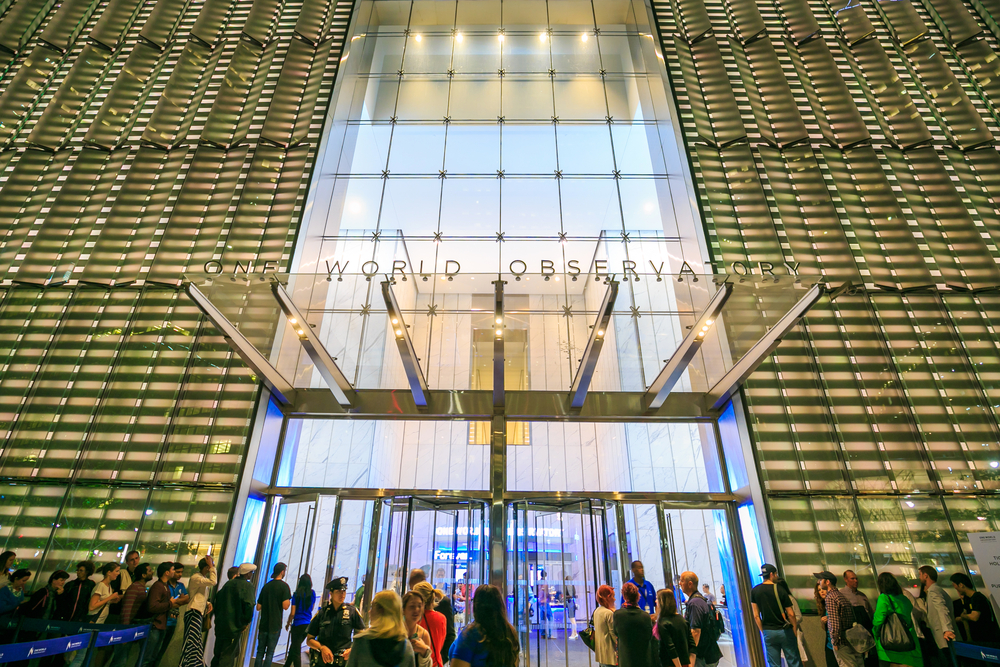 Entrance to the One World Trade Center Observatory.
